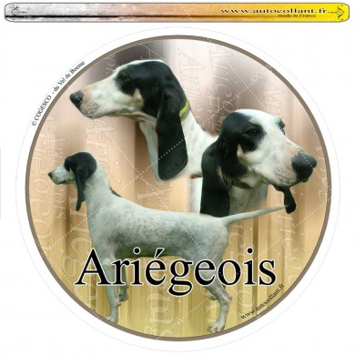 Autocollant ariegeois circulaire