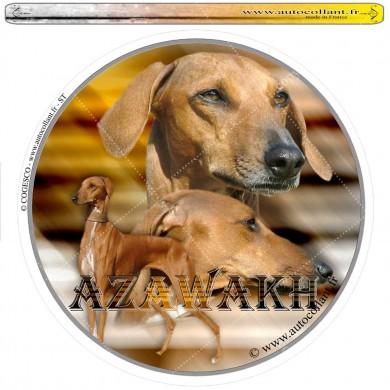 Autocollant azawakh circulaire