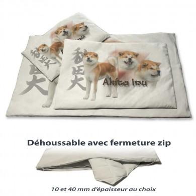 Couchage pour chien d'akita inu en version 20 mm pour plaid et protège canapé