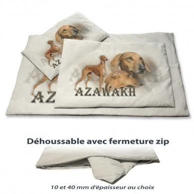 Coussin chien avec un azawakh