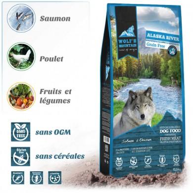 Croquettes chien WOLF'S MOUNTAIN ALASKA RIVER