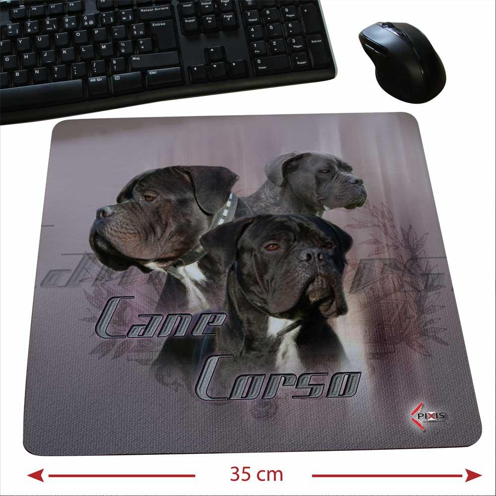 Tapis de souris au format carré d'un chien cane corso mâle