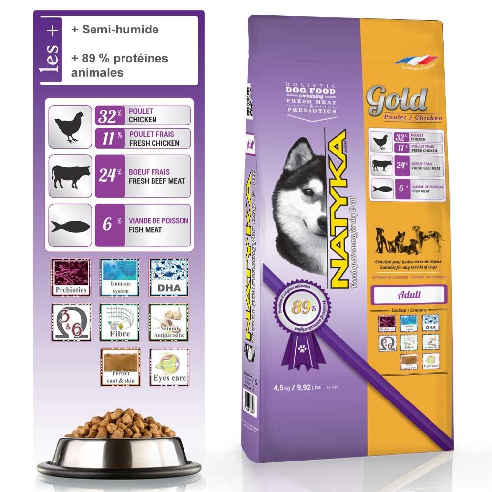 Nourriture pour chien Natyka Gold Poulet & Riz