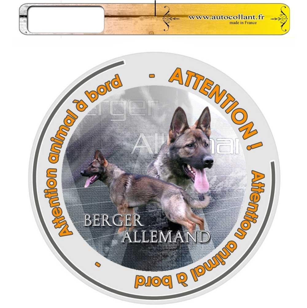 Pets-Easy.com Panneau chien ou plaque Berger-Allemand 20 cm