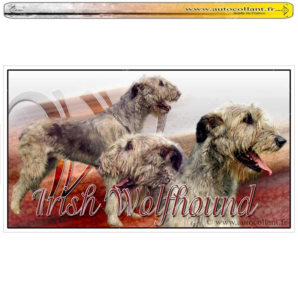 Stickers autocollant irish wolfhound