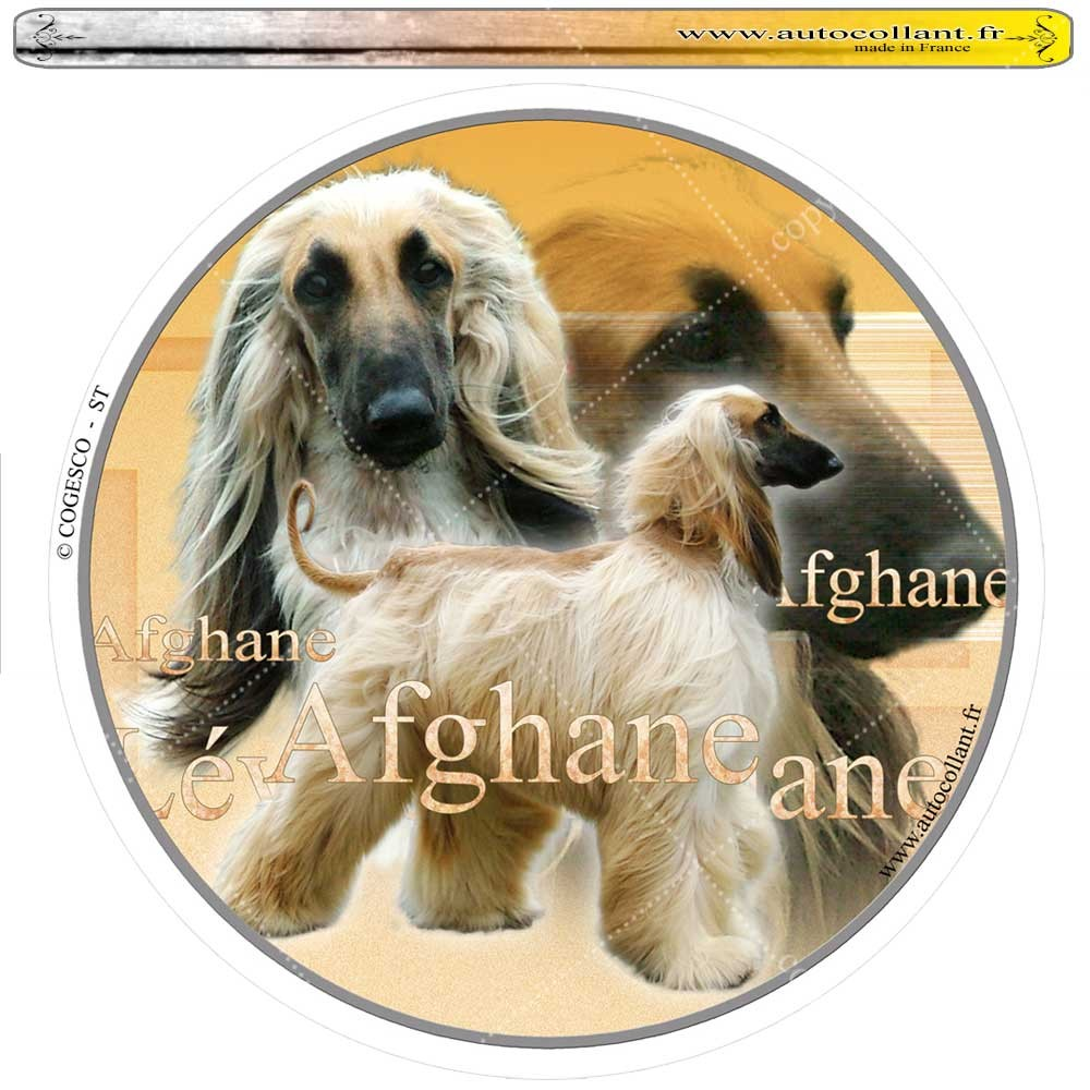 Autocollant afghane blond circulaire