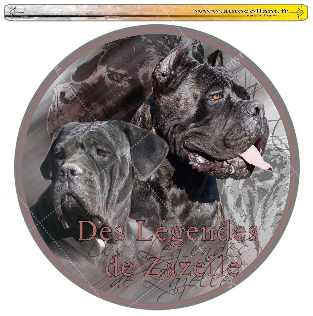 Autocollant cane corso zazelle circulaire