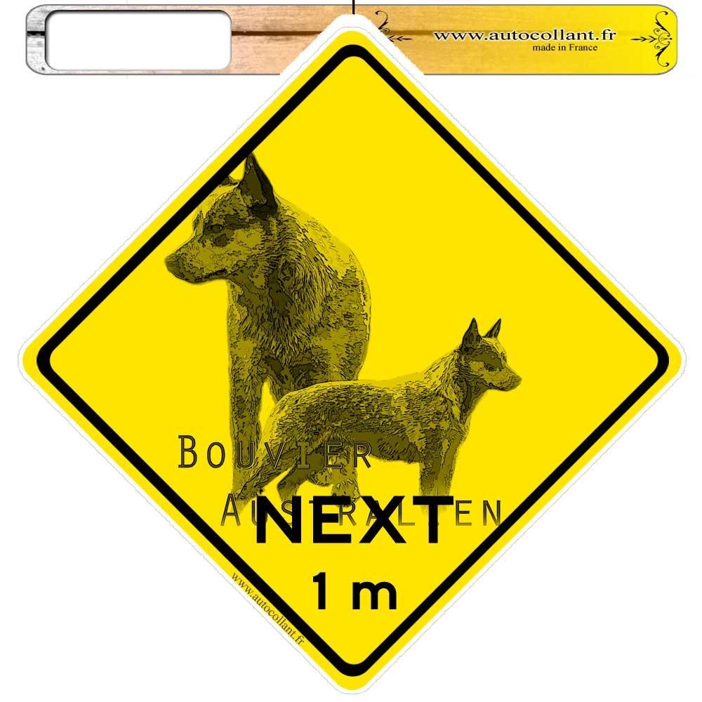 Autocollants roadsign personnalisés - Australian Cattle Dog 01