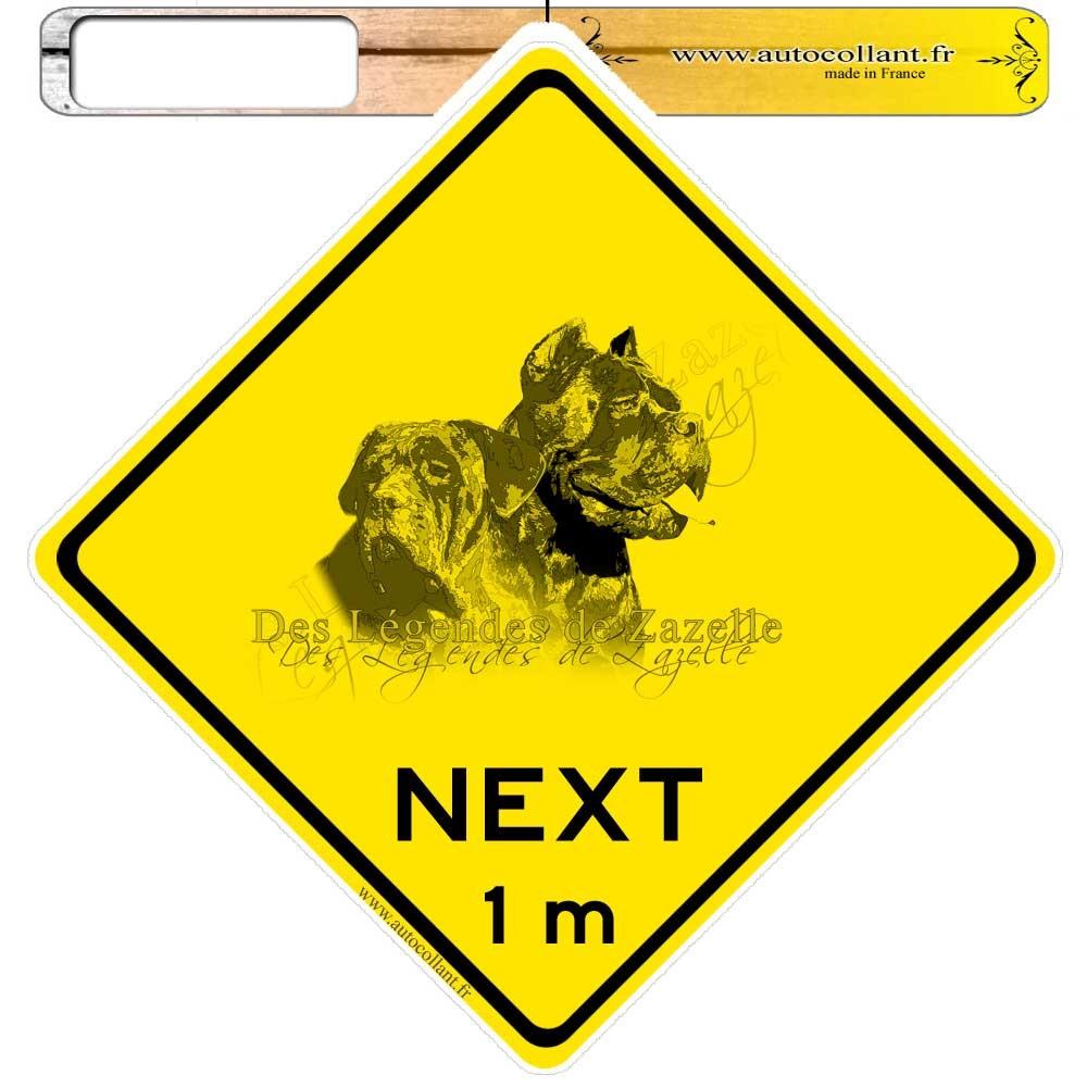 Autocollants roadsign personnalisés - cane corso zazelle
