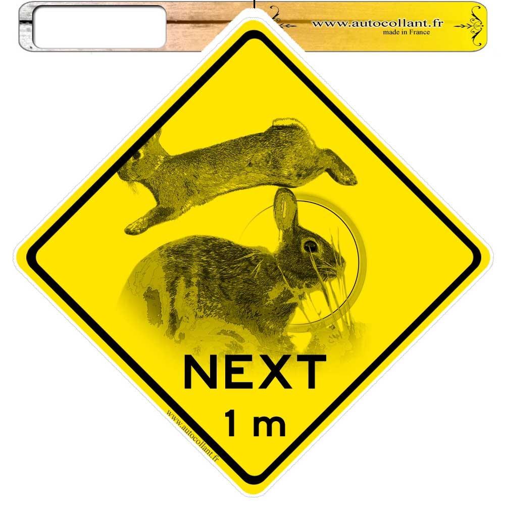 Autocollant de Gibier lapin de garenne roadsign