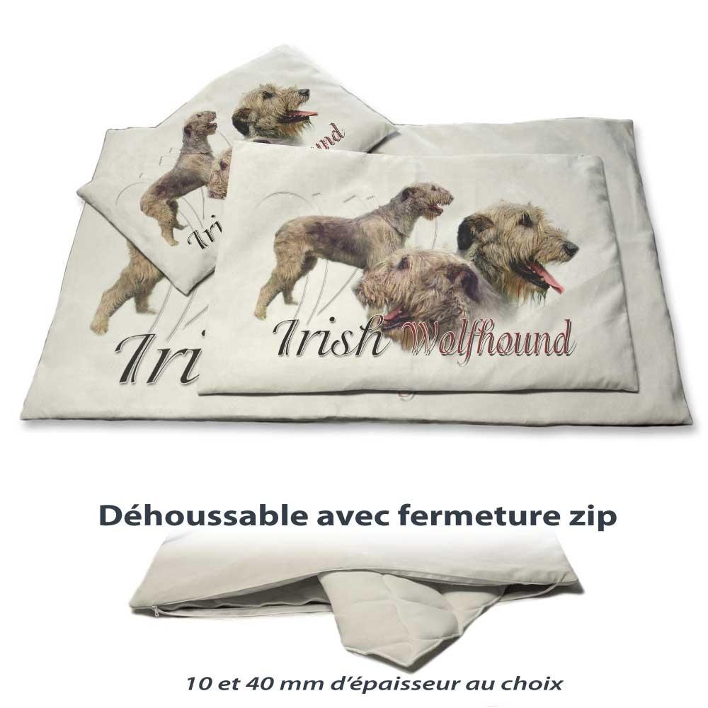 Coussin chien avec un irish wolfhound
