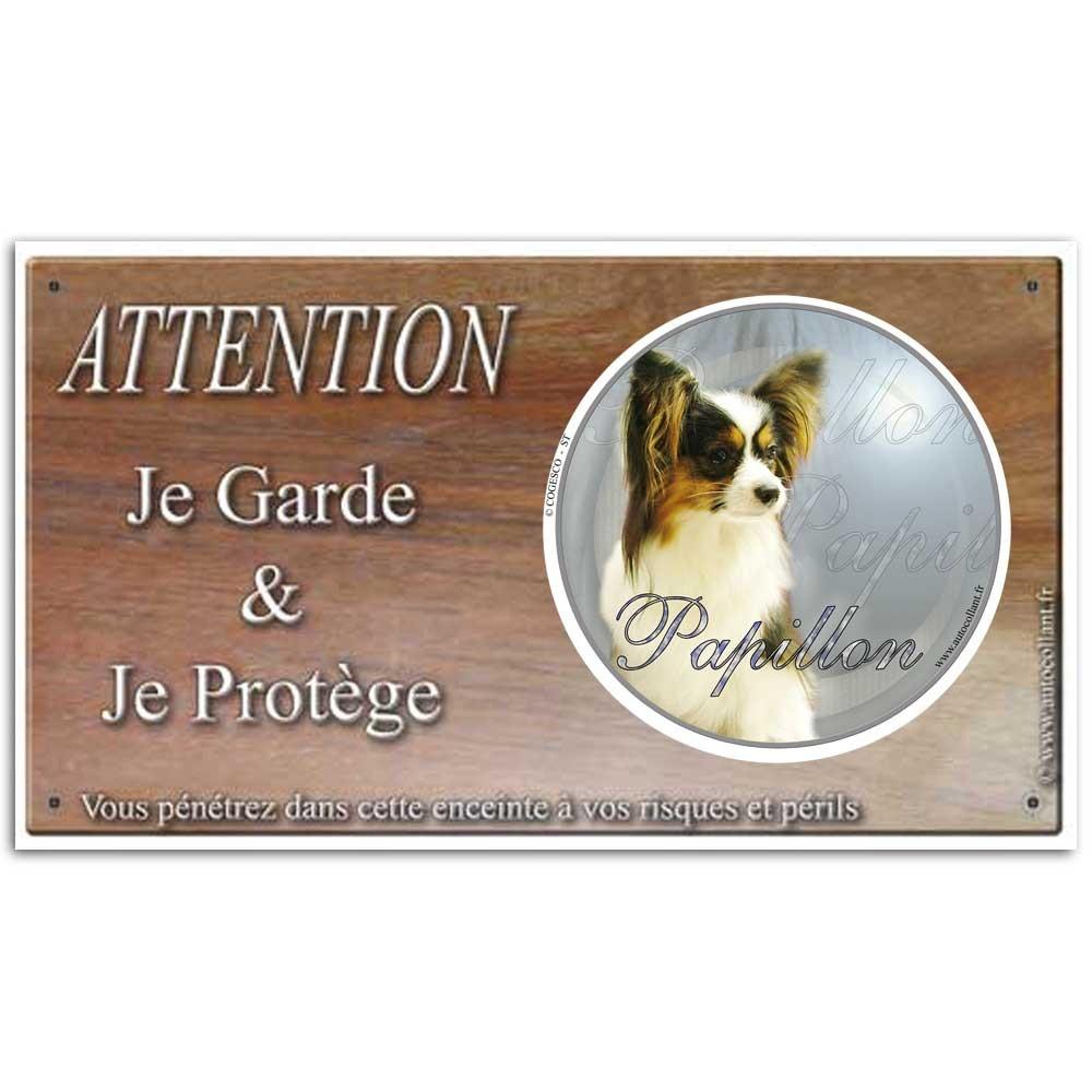 Plaque ou panneau de garde Attention au Chien - papillon 8d46b0fa48c8