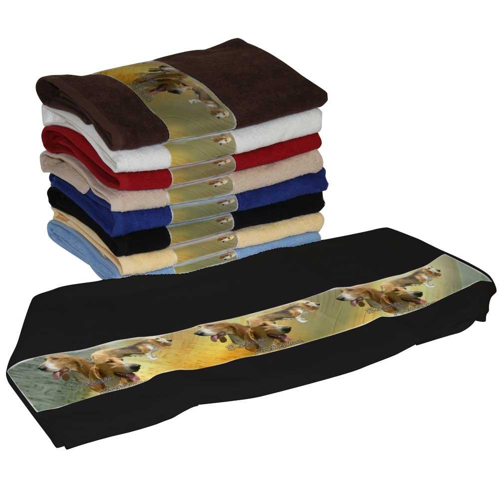 Serviette coton basset artesien normand pour Chien