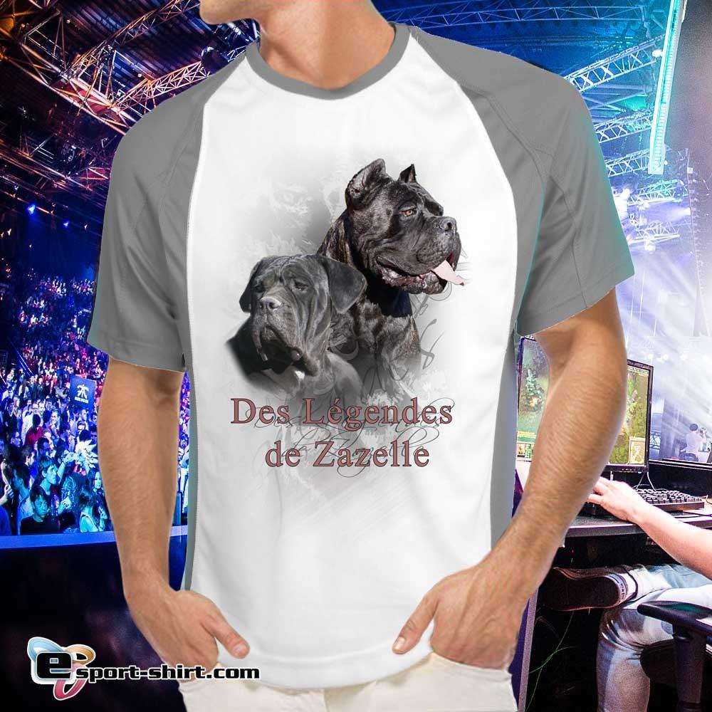 T-shirt de cane corso zazelle en polyester bicolore