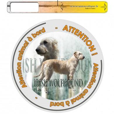 Autocollant Chien à bord de irish wolfhound froment