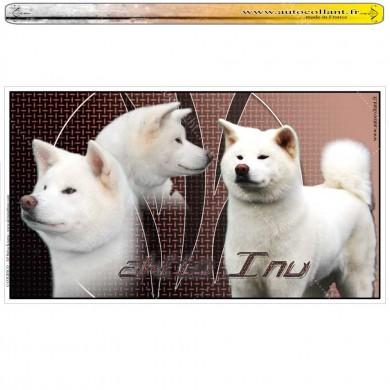 Stickers autocollant akita inu blanc