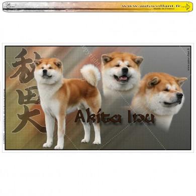 Stickers autocollant akita inu fauve