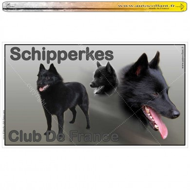 Autocollants panoramiques personnalisés - club_shipperke