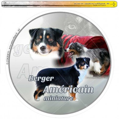 Autocollant berger americain miniature circulaire