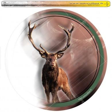 Autocollant cerf circulaire