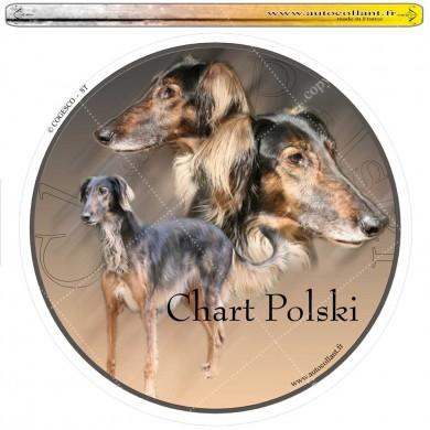 Autocollant chart polski circulaire