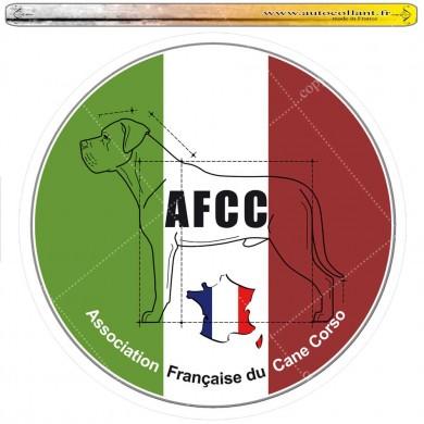 Autocollant logo club cane corso circulaire