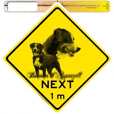 Autocollants roadsign personnalisés - Appenzeller Sennenhund