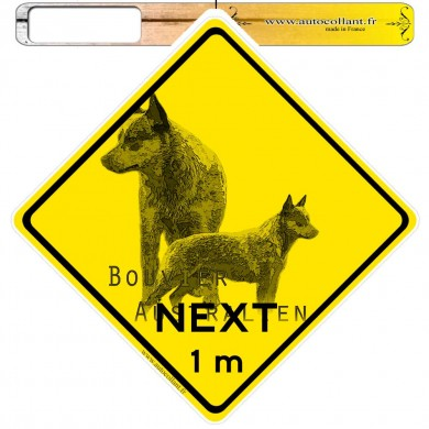 Autocollants roadsign personnalisés - Australian Cattle Dog 01