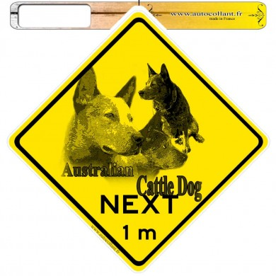 Autocollants roadsign personnalisés - Australian Cattle Dog