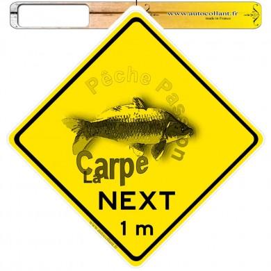 Autocollants roadsign personnalisés - Carpe