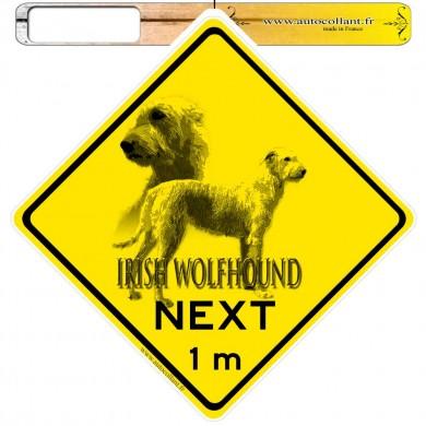 Autocollants roadsign personnalisés - Irish Wolfhound Froment