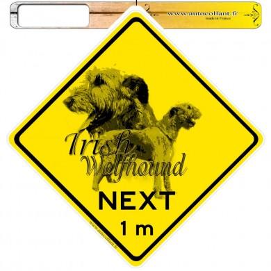 Autocollants roadsign personnalisés - Irish Wolfhound