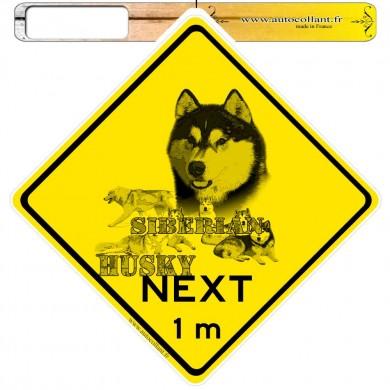 Autocollants roadsign personnalisés - Siberian Husky