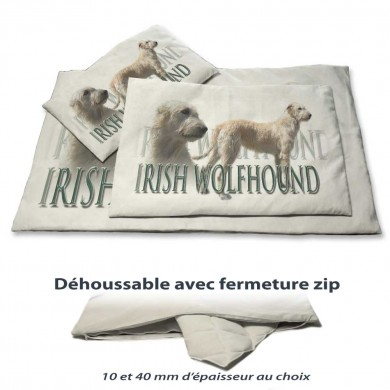 Coussin chien avec un irish wolfhound froment