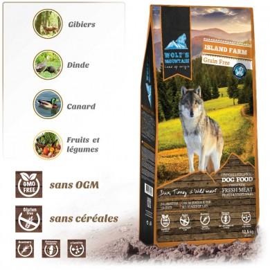 Croquettes pour chiens WOLF'S MOUNTAIN ISLAND FARM