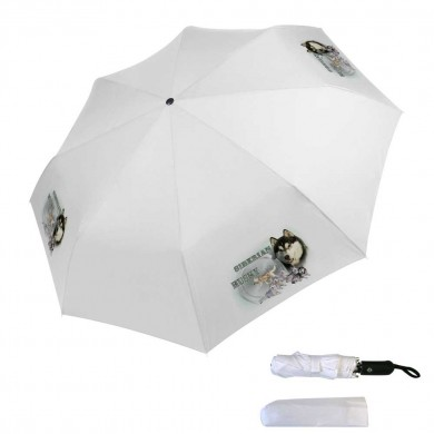 Parapluie pliable siberian husky