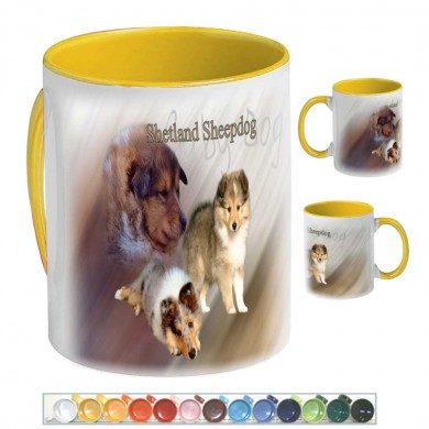 Mug Chien  shetland sheepdog baby dog