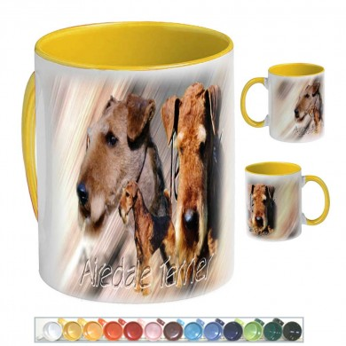 Mug Chien airedale terrier