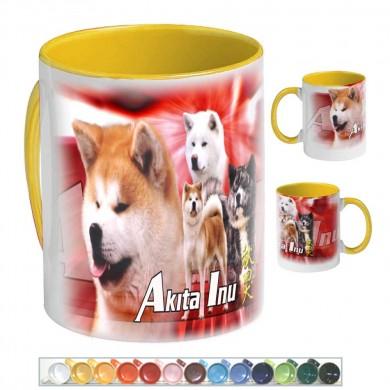 Mug Chien akita inu multicolor