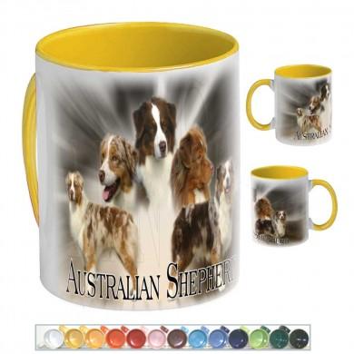 Mug Chien australian shepherd rouge