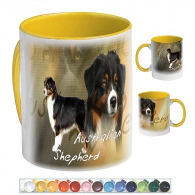 Mug Chien australian shepherd tricolor