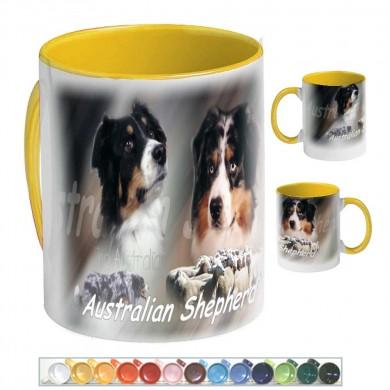 Mug Chien australian shepherd troupeau