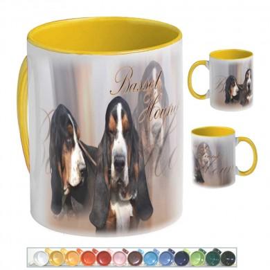 Mug Chien basset hound tricolor