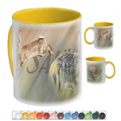 mug-ceramique-lapin de garenne-de-multiples-couleurs