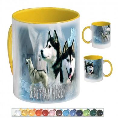 Mug Chien siberian husky oumiaks