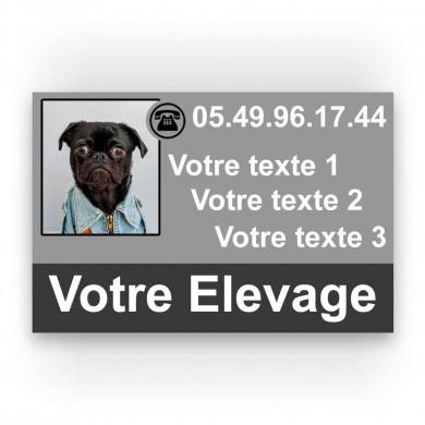 pancarte publicitaire élevage de chien