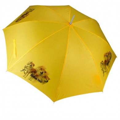 Parapluie Chien akita inu fauve
