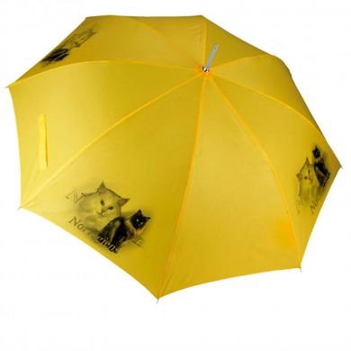 Parapluie Chat norvegien noir et blanc