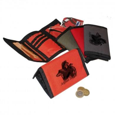 Petit portefeuille Afghan Hound Noir et Feu