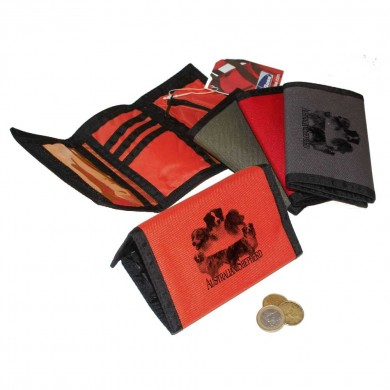 Petit portefeuille Australian shepherd Rouge